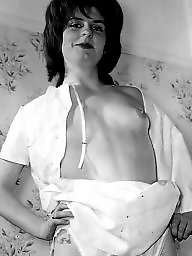 Hairy, Nylons, Vintage hairy, White, White and black, Vintage nylon