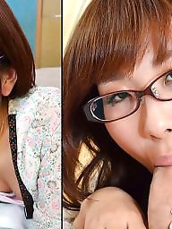 Asian, Before and after, Asian blowjobs
