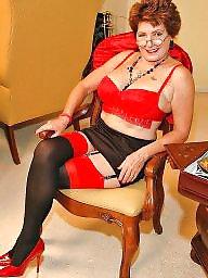 Mature stocking, Mature stockings, Big mature