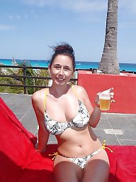 Holiday, Private, Beach milf, Busty milf, Amateur busty