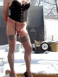 Sissy, Outdoor, Outdoors, Stockings voyeur