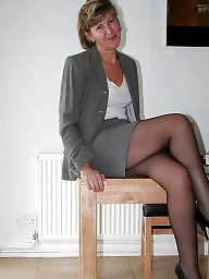 Uk mature, Office, Amateurs, Mature in stockings, Officer, Mature uk