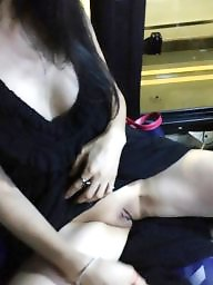 Korean, Flashing, Woman, Asian pussy, Asian flash