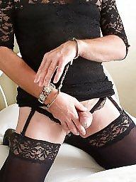 Lace, Blacked, Black stocking