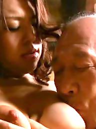 Old man, Man, Erotic, Asian wife, Asian tits, Old wife