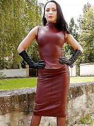 Leather, Skirt, Ladies