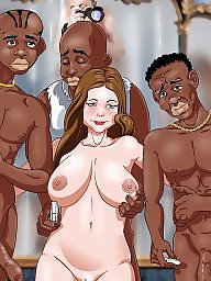 Interracial cartoon, Art, Interracial cartoons