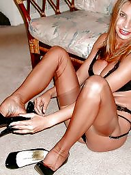 Heels, High heels, Tease, Stockings tease
