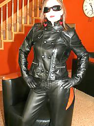 Latex, Leather, Pvc, Mature leather, My mom, Amateur mom