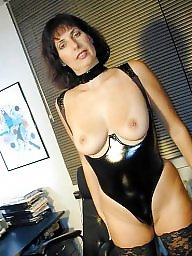 Latex, Leather, Amateur moms, Mature latex, Mature mom, Milfs