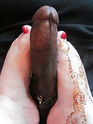 Interracial, Footjob, Mature interracial, Interracial mature