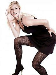 Nylon, Dress, Heels, Milf stockings, High heels, Milf legs