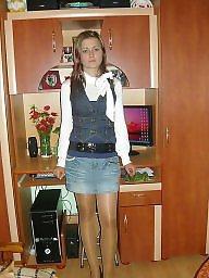 Upskirt, Teen stockings, Amateur nylon