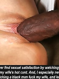 Captions, Cuckold, Creampie, Interracial, Interracial cuckold, Interracial captions