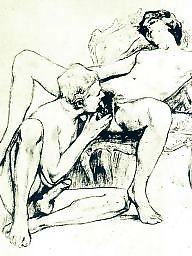 Drawing, Drawings, Vintage, Draw, Erotic, Vintage drawing