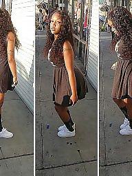 Skirt, Dressed, Shorts, Black teen, Ebony teens, Ebony teen
