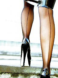 High heels, Teen stockings