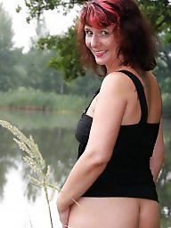 Matures, Pose, Mature posing, Lake