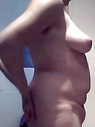 Boobs, Wife naked, Naked, Unaware