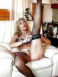 Italian mature, Italian, Blonde, Blonde mature, Mature stockings, Stocking mature