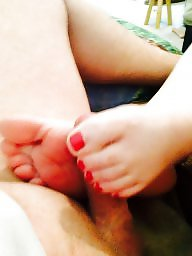 Footjob, Wife amateur