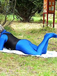 Outdoor, Spandex, Mature outdoor, Funny, Mature outdoors, Outdoor matures