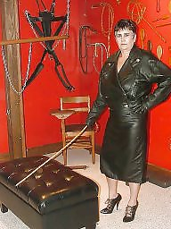 Latex, Leather, Pvc, Strapon, Femdom, Mature leather