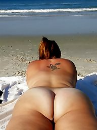 Clit, Beach, Big clit, Bbw beach, Big ass, Sexy milf