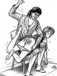 Spanking, Spanked, Bdsm cartoon, Spank, Art, Bdsm art
