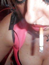 Smoking, Smoke, Blonde milf