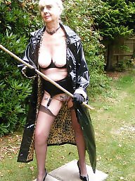 Pvc, Granny, Granny outdoor, Mature outdoor, Granny stockings, Stocking