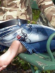 Nylon feet, Mature feet, Nylons, Mature nylon, Voyeur mature, Nylon mature