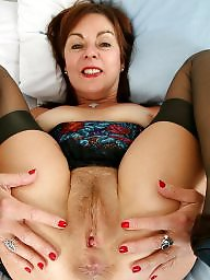 British mature, British, Old milf, Stocking milf, Old mature