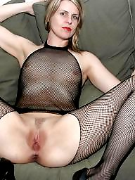 Fishnet, Milf stockings, Amateur stocking