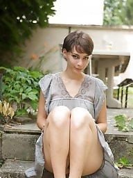 French, Posing, Garden