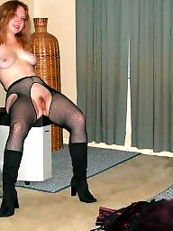 Stockings, Mature redhead, Redhead mature, Wife mature