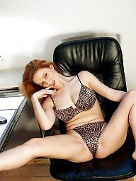 Milf stocking, Redhead milf