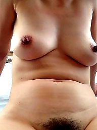 Saggy, Big tits, Saggy tits, Wife, Big nipples, Hard