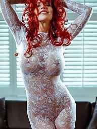 Redhead, Celebrity, Bodysuit, White, Celebrities