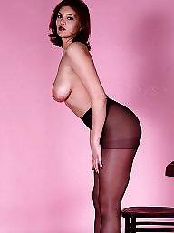 Pantyhose, Upskirt stockings, Lady, Posing, Pantyhose upskirt