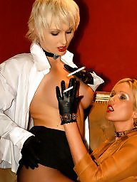 Smoking, Latex, Nylon, Smoke, Lesbian milf, Milf lesbian