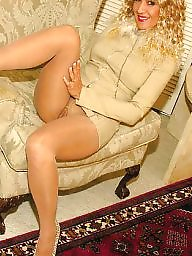 Lady, Older, Home, Stockings mature, Older mature, Elegant