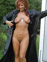 Nude, Garden, Brunette mature, Mature nude, Mature brunette