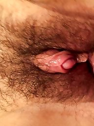 Big clit, Big pussy, Clit, Hairy pussy, Fingering