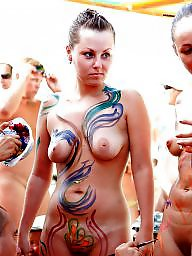 Nudist, Nudists, Public nudity, Paint