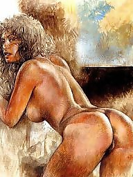 Vintage, Drawings, Drawing, Draw, Erotic, Vintage drawing