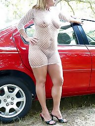 Car, Cars, Upskirts, Mature upskirt, Upskirt mature, Red