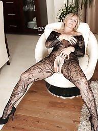 Nylon, Milf stockings, High heels, Leg, Milf legs, Dressed