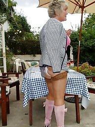 Stockings, Jeans, Voyeur, Stockings mature, Voyeur mature