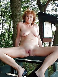 Outdoor, Shaved, Nude, Shaved pussy, Shaving, Public voyeur